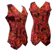 Unbranded Button Viscose Waistcoats for Women