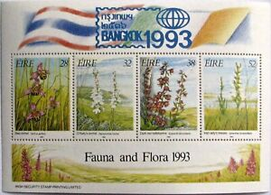 IRELAND #894b: VF MNH 'Orchids - joint issue with Thailand' - Souvenir Sheet