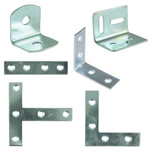 Mending Plates Braces Corner Stretcher Angle Tee T Brackets Small Large Metal
