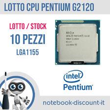 STOCK 10 PROCESSORI Intel Pentium G2120 @ 3.10 LGA1155 CPU Stock Desktop SR0UF