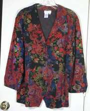 COLDWATER CREEK size XL multi-color textured travel knit jacket top