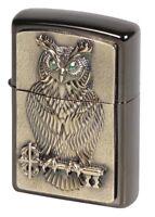 ZIPPO - OWL OF WISDOM - 3D GREEN EYE- EMBLEM - LIMITIERT - LIMITED - 1000 STÜCK