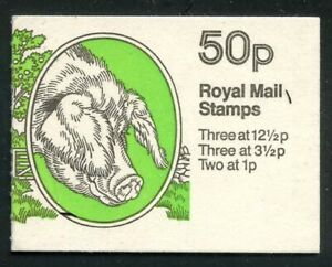 Great Britain 1983 50p Gloucester Old Spot booklet SG# FB24 NH