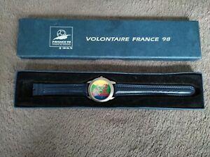 Rare Montre Collector Coupe du Monde France 98 Volontaire En Boite