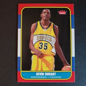 KEVIN DURANT 2007-08 Fleer RC Rookie 1986 Retro Card #86R-143 - HOT!