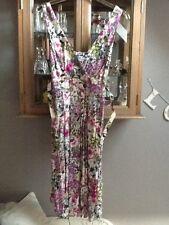 New Look multi floral belted tea dress UK 12