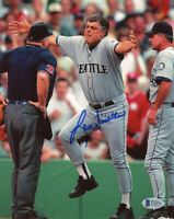 LOU PINIELLA SIGNED AUTOGRAPHED 8x10 PHOTO SEATTLE MARINERS MANAGER BECKETT BAS