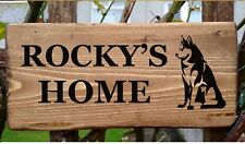 HUSKY DOG NAME PLATE PLAQUE SIGN Dog House Home Plate Kennel Crate SIBERIAN  New