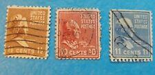 U.S. Postage Stamps 1&1/2 c Martha Washington, 10 c Tyler and 11c Polk