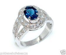 London Blautopas Ring 925 Echt Silber / Top Geschenkidee