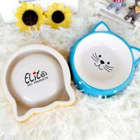 Cat Face Design Pet Dog Cat Kitten Ceramic Feeding Feeders Water Foods Bowl T1Y5
