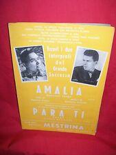 CONSOLINI Amalia (Privitera) + FRANCO SCARICA Para ti (Corel) 1958 Spartiti