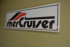 MerCruiser Mercury BANNER Sign Service Mechanic Marina Sign Boat Shop 7 DAY