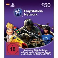 50€ Euro Playstation Network DE Card Karte PSN PS3 Code