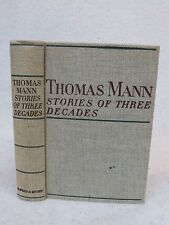 Thomas Mann STORIES OF THREE DECADES Alfred A. Knopf 1936 HC