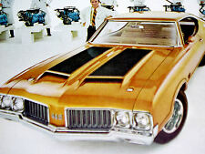 1970 Oldsmobile Cutlass 442 W25 Original Ad *W-25/455 V8 engine/hood/door/emblem