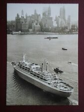 POSTCARD CRUISE LINERS S.S ROTTERDAM 1961