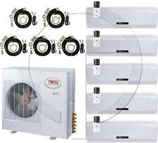 Quint 5-Zone Ductless Mini Split Air Conditioner Heat Pump, 60000 BTU ~ 5 Ton AC