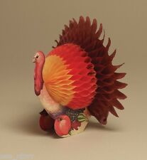 """LARGE 12"""" IN PAPER TURKEY TABLE DECORATION CENTERPIECE THANKSGIVING HONEYCOMB"""