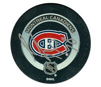 MONTREAL CANADIENS RICHARD ZEDNIK SIGNED OFFICIAL GAME PUCK w/ COA