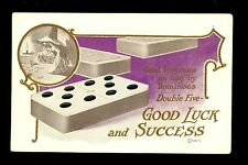 Fortune Telling Dominoes Vintage Postcard Lounsbury 1907 Good Luck & Success