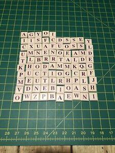 """Upwords 3D Word Game Milton Bradley Tiles Crossword Scrabble 100 Pieces 7/8"""""""