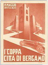 CARTOLINA d'Epoca - BERGAMO: 1935 GRAN PRIX ! Illutratore U.T.L.B. - Bellisima!!