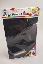 NEW - 4PK A4 BLACKBOARD CRAFT PAPER SHEETS