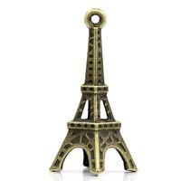 Tour Eiffel 3,5cm Modèle Figurine Bronze Style Mini Statue Déco Porte Clé
