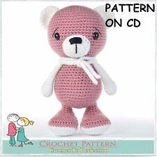 CROCHET PATTERN For TWO Toys on CD Teddy Bear Crochet Amigurumi Toy Patterns