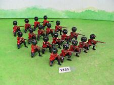 vintage britains lead soldiers kneeling firing x19 models 1385