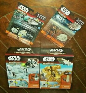 Star Wars Force Awakens- Micromachines Playsets & Inquisitor's Hunt/Tie Fighter
