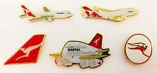 SET OF 5 QANTAS AUSTRALIA AIRLINES PIN BADGES PLANE AVIATION LAPEL PIN BADGE