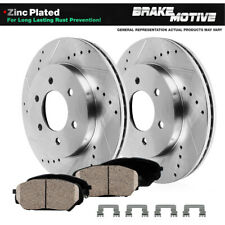 Front Kit Drilled Slotted Brake Rotors & Ceramic Pads For 2009 Ford F150 6Lug