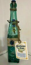 Beachside Nest Teal Green Glass Beach Decor Bottle Nwt