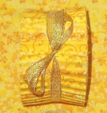 "Honey Bun Fabric Strips Quilting Fabric 20~1.5"" Bright Yellow Quilt Cotton Mix"