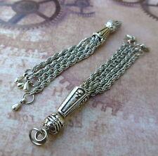 4 pcs Zinc Alloy Antique Silver Chain Tassel 002