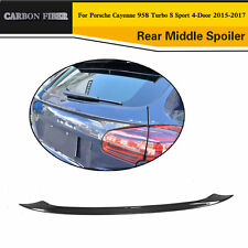 Rear Trunk Spoiler Wing for Porsche Cayenne 2015-2017 Carbon Fiber Refi