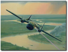 "Guns Hot (AC-119G) by Darby Perrin  - AC-119G ""Shadow"" - Aviation Art Print"