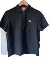 Fred Perry Taped Polo Black Size 10