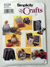 Simplicity Craft Pattern 9339 Book Carrier Bird Cage Mouse Cookie Jar Cover Uncu