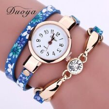 Fashion Women Bracelet Watch Triangle PU Leather Quartz Bangle Wrist XMAS Gift