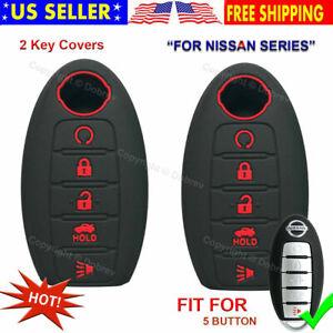 5B Silicone Cover Fob Case Skin For Nissan Altima Maxima Murano Pathfinder Key