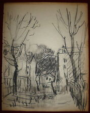 Alphonse Quizet dessin crayon sur Papier Paris Montmartre Custine Caulaincourt
