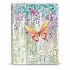 Butterfly Wisteria Mini Portfolio Notepad w/ Inside Font Pocket by Punch Studio