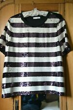 BNWT M/&S LADIES SILVER SHIMMER TOP WITH STRETCH PARTY WEAR SIZE 22