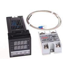 Digital PID Temperature Controller Thermostat REX-C100 + Max.40A SSR Relay