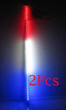 2Pcs,6 feet ATV UTV Led light bulb whip with flag Quick Release- Red/White/Blue
