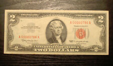 SERIES 1963 $2 Dollar United States Note Low Serial #  A00080786A RED SEAL