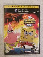 Spongebob Squarepants The Movie Nintendo Gamecube NO MANUAL TESTED FREE S/H